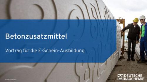 Die Deutsche Bauchemie bietet umfangreiches Lehrmaterial zu Betonzusatzmitteln als kostenlosen Download an.