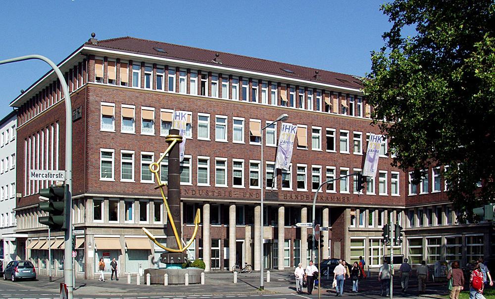 Gebäude der IHK Niederrhein in Duisburg