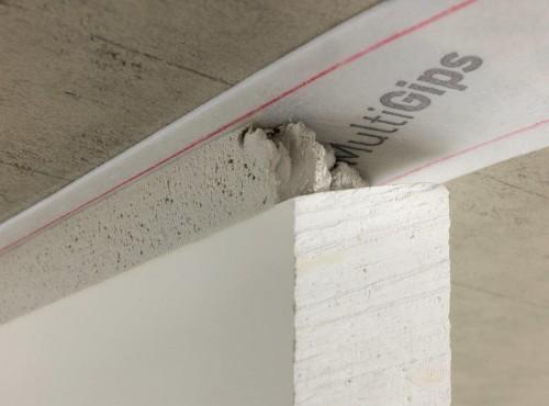 Gips-Wandbauplatte Deckenfuge