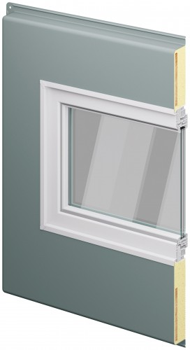 Mithilfe von Montagblöcken lassen sich Kellerfenster einfach in die Dämmebene einbauen. Grafik: ACO