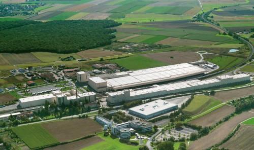 Luftaufnahme des Knauf-Werkes in Iphofen