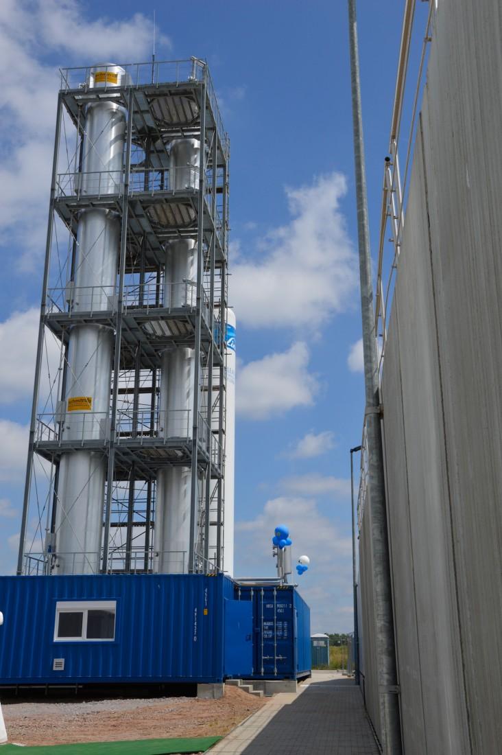 Die Power-to-Gas-Pilotanlage des Prüf- und Forschungsinstituts in Pirmasens. Foto: Prüf- und Forschungsinstitut (PFI)