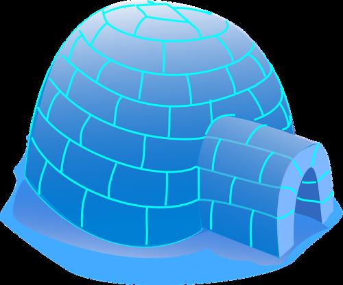 Das Iglu ist theoretisch die energieeffizienteste Gebäudeform. Grafik: Pixabay