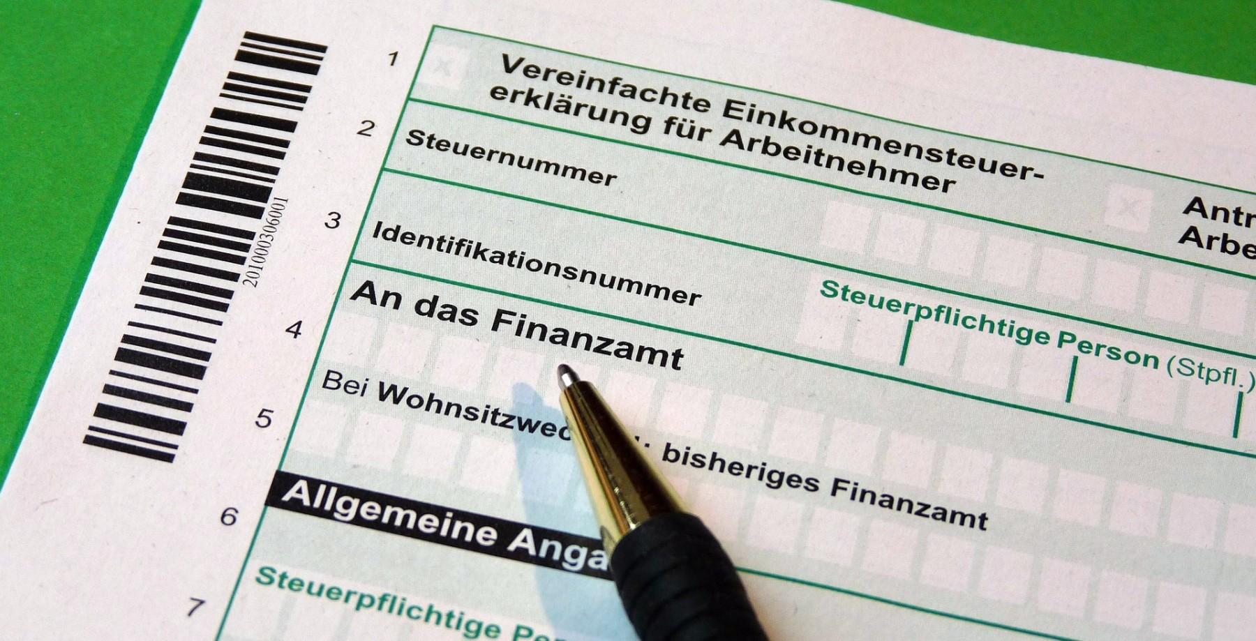Einkommensteuererklärung. Foto: Pixabay
