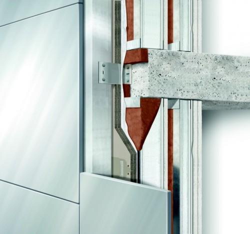 """33 cm Trockenbau: Außenwandschichten beim Stuttgarter Wohnbauobjekt """"Cloud No. 7"""". Grafik: Knauf"""
