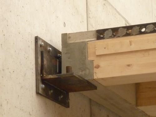 """Holz-Beton-Verbunddecke beim achtstöckigen """"Life Cycle Tower One"""" in Dornbirn. Foto: Architekten Hermann Kaufmann"""