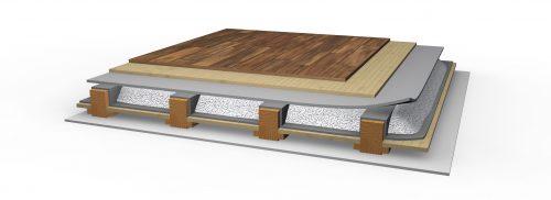 Das Material kommt zum Beispiel als loses Schüttgut in Hohlräumen zum Einsatz. Foto: Poraver