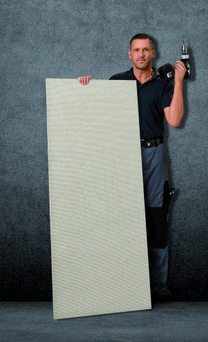 """Die Trockenbauplatte """"Vero-Board Rapid"""" besteht zu 96 Prozent aus Blähglas-Granulat. Foto: Verotec"""