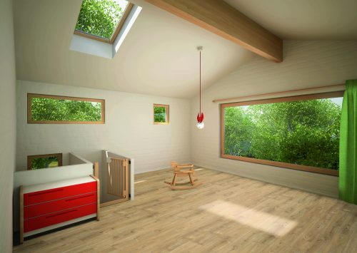 Moderner Designboden mit PUR-Oberfläche in Holzoptik. Foto: Parador