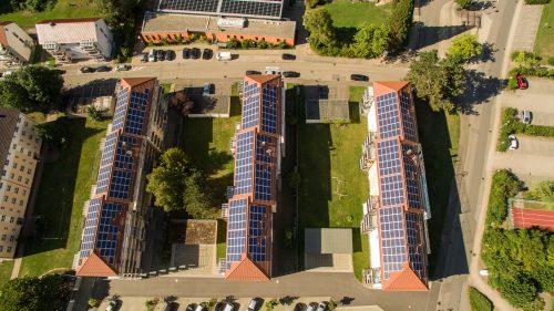 Mieterstrom-Projekt des Projektierers und Energiedienstleisters Wirsol in Mosbach-Eberbach. Foto: WIRCON GmbH