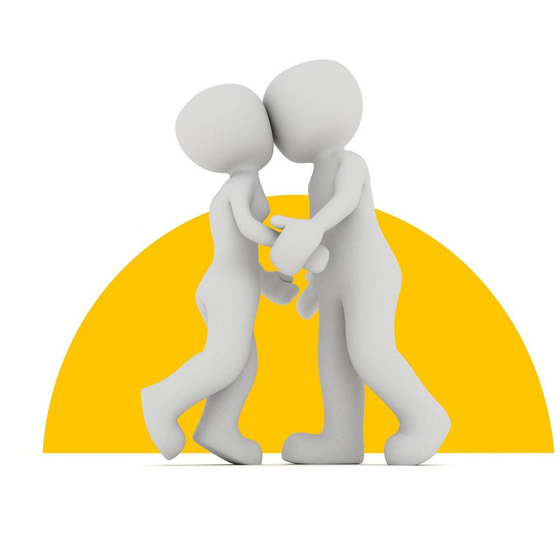 Kein Kunde hat das Recht, Verkäuferinnen oder Verkäufern unerlaubt zu nahe zu treten. Foto: Pixabay