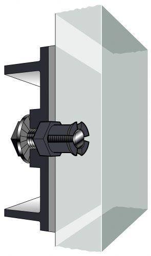 Unsichtbar befestigte Schieferfassade mit Hinterschnittankern. Grafik: Rathscheck Schiefer