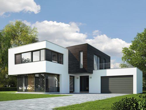 Klassische Anwendung: Karbonisierte Holzprofile im Fassadenbereich. Foto: Mocopinus