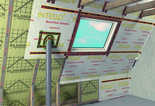 Folienwerkstoffe sorgen für Luftdichtheit und schützen den Dämmstoff vor Feuchtigkeit. Foto: Rockwool
