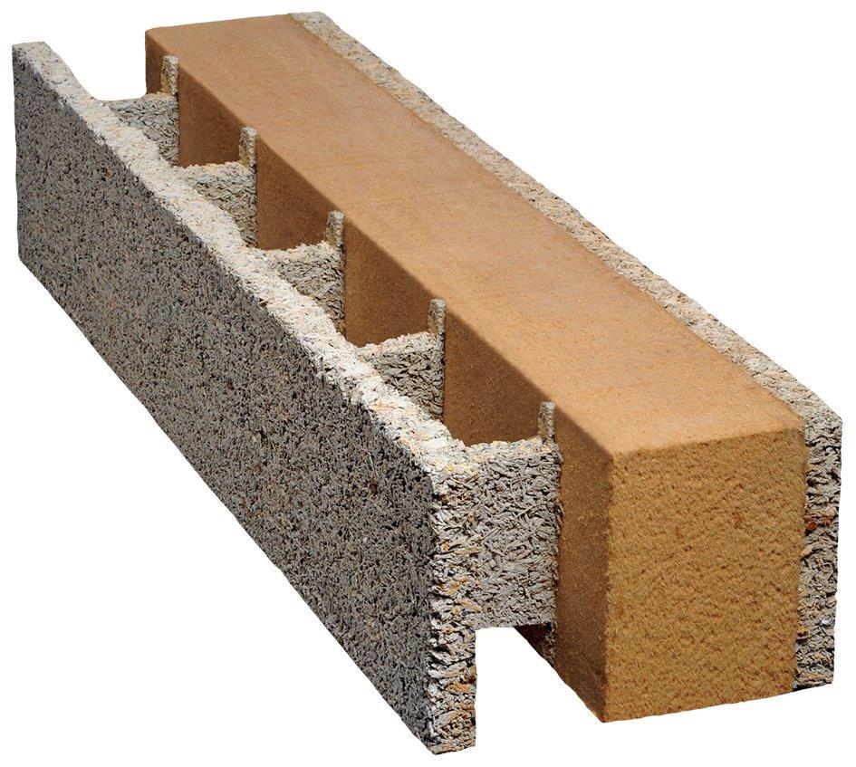 Mantelstein mit integrierter Holzfaserdämmung. Foto: Isospan