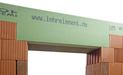 Auch Betonstürze werden oft mithilfe verlorener Schalungen gegossen. Foto: Lohr Element