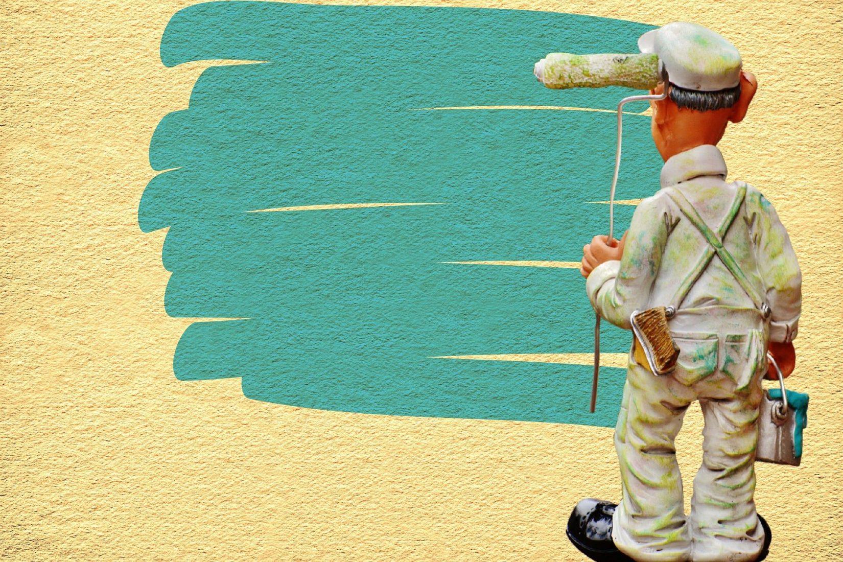 Wände streichen zählt zu den Renovierungsarbeiten. Foto: Pixabay
