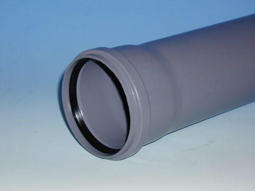 Klassiker bei den Hausabflussrohren: das graue HT-Rohr. Foto Arkema/Alphacan