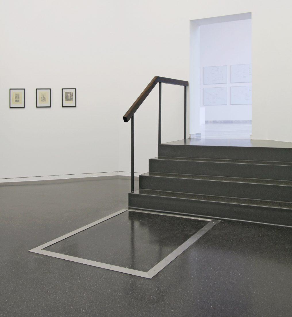 Geschliffener Gussasphaltestrich als fugenloser Oberboden im Stuttgarter Kunstgebäude. Foto: HIIIS harderstumpflschramm