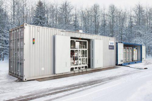 Im Rahmen des Soletair-Projekts wurde 2017 im finnischen Lappeenranta eine Power-to-Liquid-Pilotanlage installiert. Foto: VTT