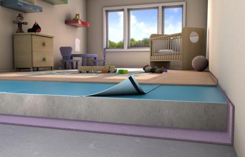 PE-Schaum ist universell für alle Bodenbeläge verwendbar und auch auf Fußbodenheizungen geeignet. Foto: Gefinex