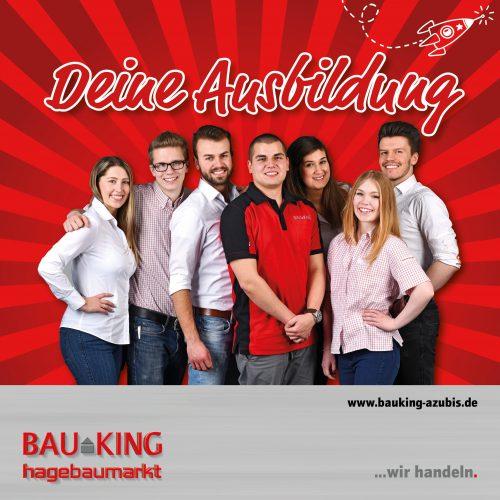 """Sieben """"echte"""" Bauking-Azubis sind die Gesichter der Kampagne. Abbildungen: Bauking AG"""