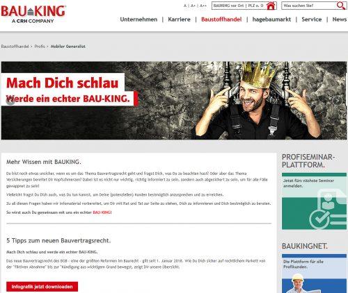 Informative Inhalte für werkstattlose Handwerker gibt es ab sofort unter wissen.bauking.de.