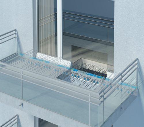 Dieser Isokorb verbindet Stahlbetondecke und Balkonplatte. Bilder: Schöck Bauteile GmbH