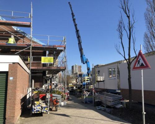 Impression von einer Energiesprong-Baustelle im niederländischen Zoetermeer. Foto: dena