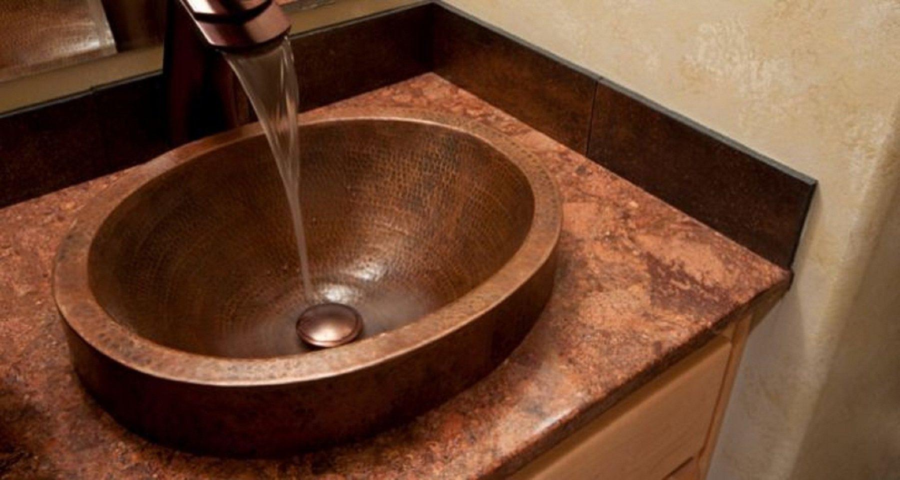 Schickes Waschbecken aus Kupfer. Foto: Pixabay