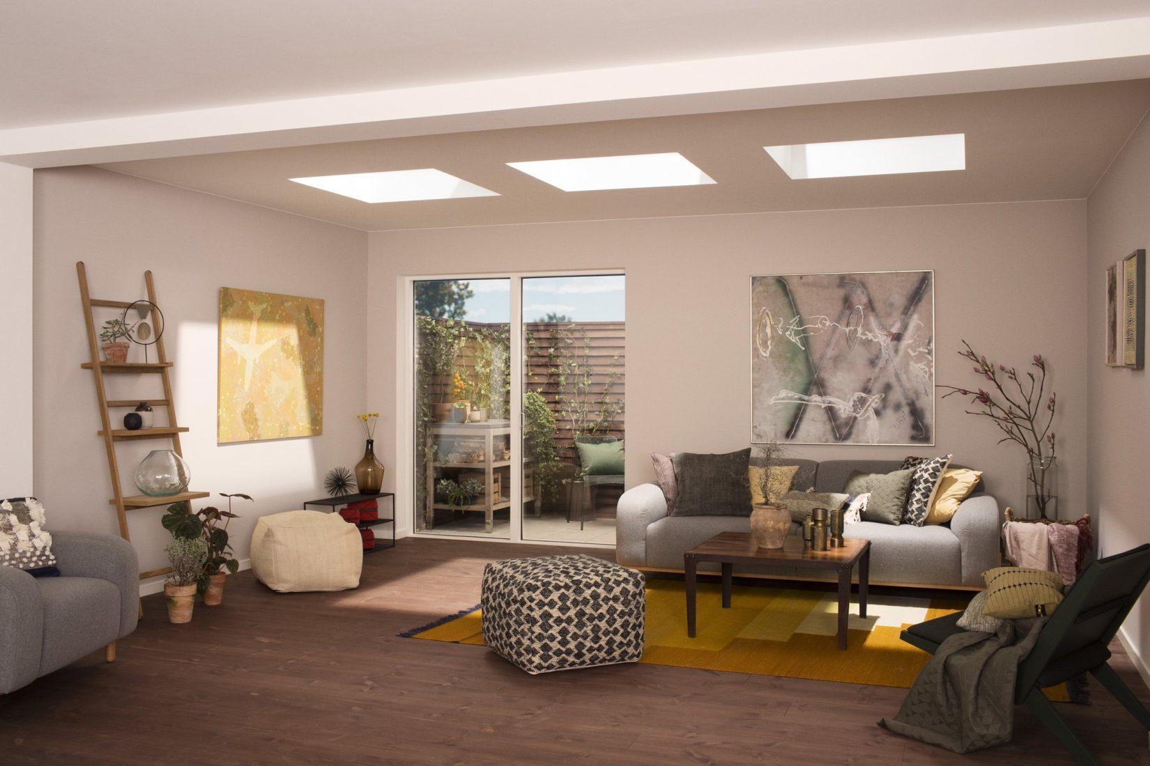 Flachdachfenster sind ein Highlight – gerade auch in Wohnbereichen. Foto: Velux