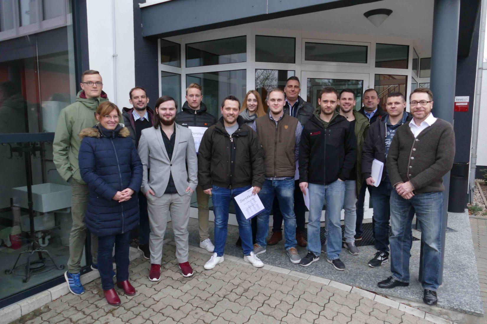 Die Teilnehmer des Lehrgangs in Göttingen. Fotos: Eurobaustoff
