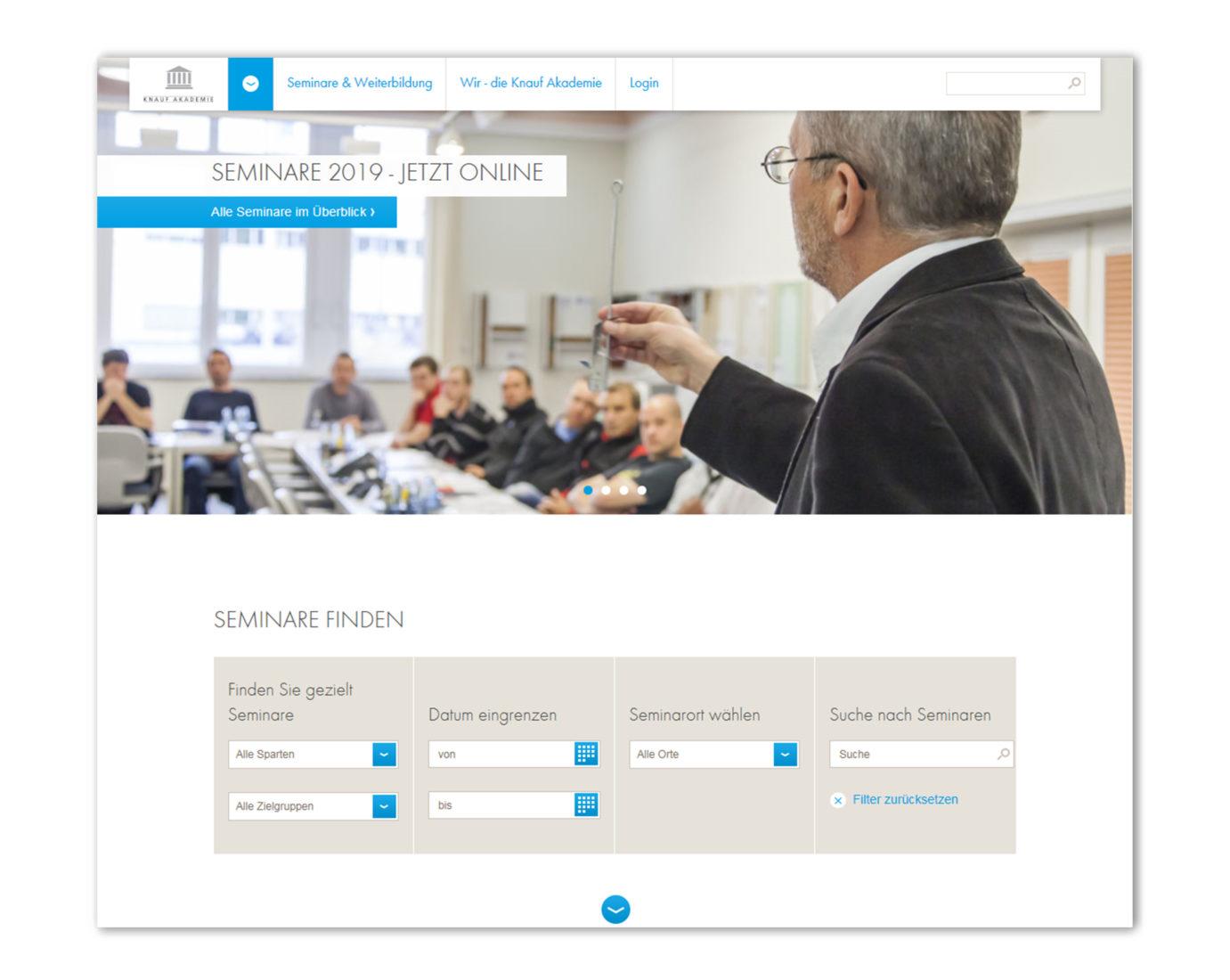 Alle Seminare lassen sich direkt über die Online-Anmeldung buchen. Foto: Knauf