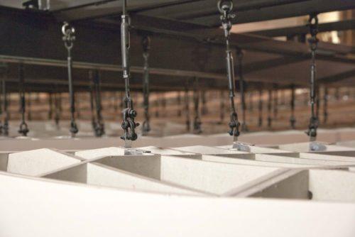 Dank Spantentechnik konnten die Elemente als dreidimensionale Konstruktion ausgeführt werden.