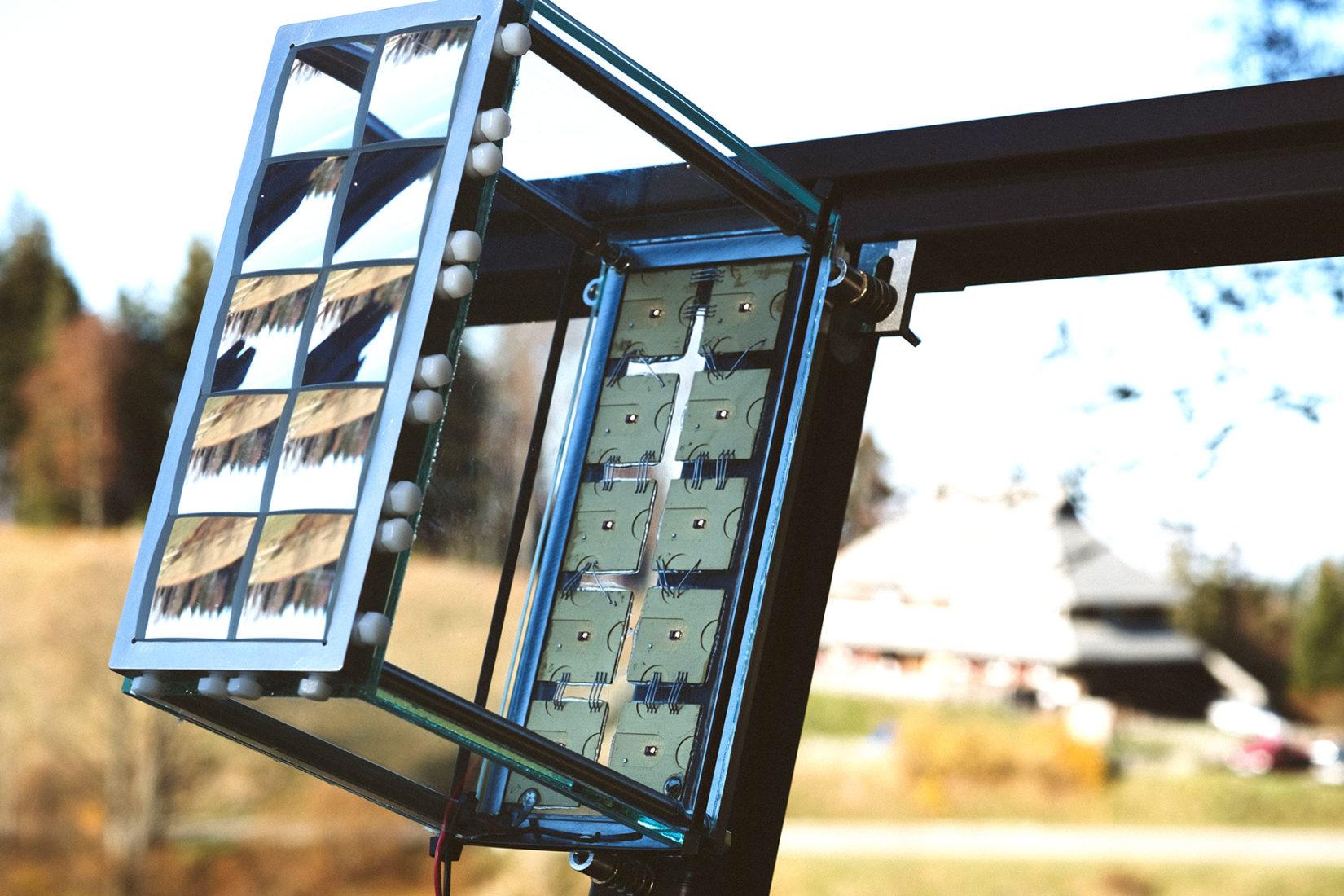 Rekordwirkungsgrad: Dieses Konzentrator-Photovoltaikmodul verwandelt 41,4 % der Solareinstrahlung in elektrische Energie. Foto: Fraunhofer ISE
