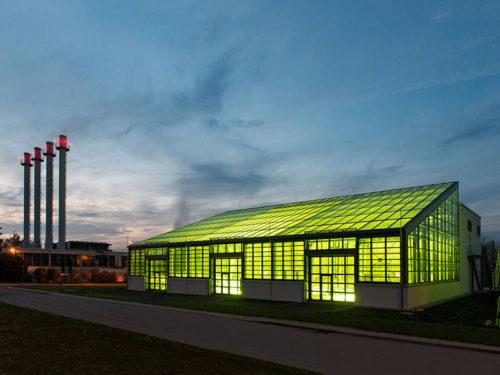 Das Algentechnikum der TU München in Ottobrunn wurde 2015 eröffnet. Foto: A. Heddergott / TUM