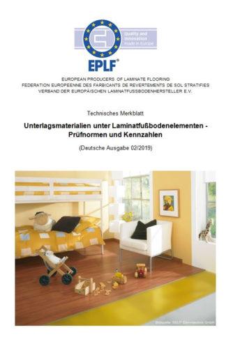 Das aktuelle Merkblatt des EPLF gibt wertvolle Tipps zu Laminatunterlagen.