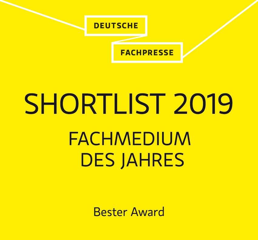"""Der BaustoffWissen Azubi-Award ist mit einer Shortlist-Platzierung in der Kategorie """"Bester Award"""" ausgezeichnet worden."""
