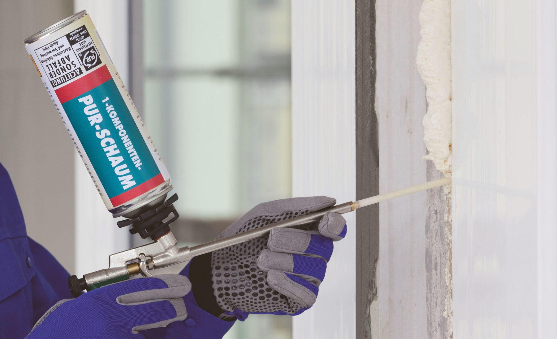Rund 80 % der Fensterfugen werden in Deutschland mit PU-Schaum gedämmt. Foto: www.pu-schaum.center