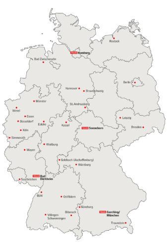 Die Seminare werden an 31 Standorten angeboten. Grafik: Velux