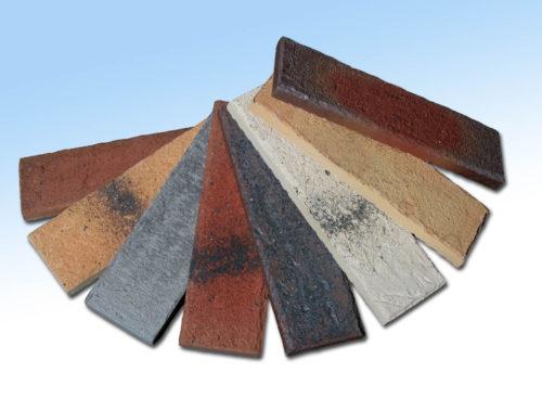 Riemchen-Klinker sind nur zwischen 0,5 und 2,5 cm dick. Foto: Röben Tonbaustoffe