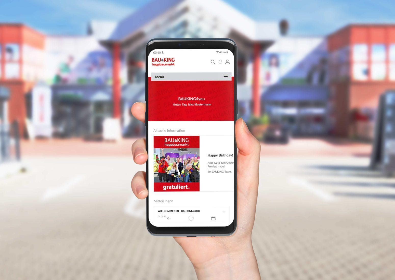 Die App verbessert die interne Kommunikation und bietet Benefits sowie Self-Services. Foto: Bauking AG