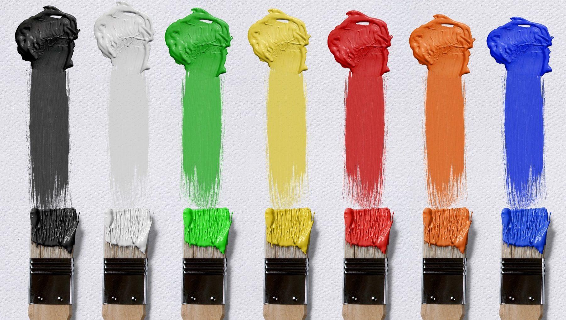 Wenn der Farbanstrich an der Wand trocknet, dünstet das Lösungsmittel aus. Foto: Pixabay