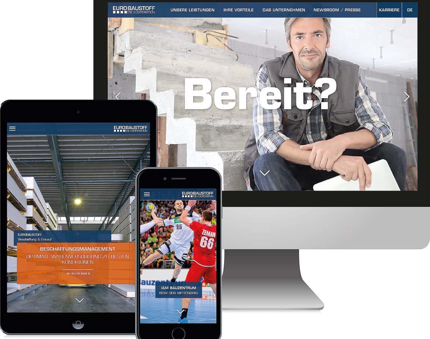 Die neue Website setzt auf emotionales Webdesign.