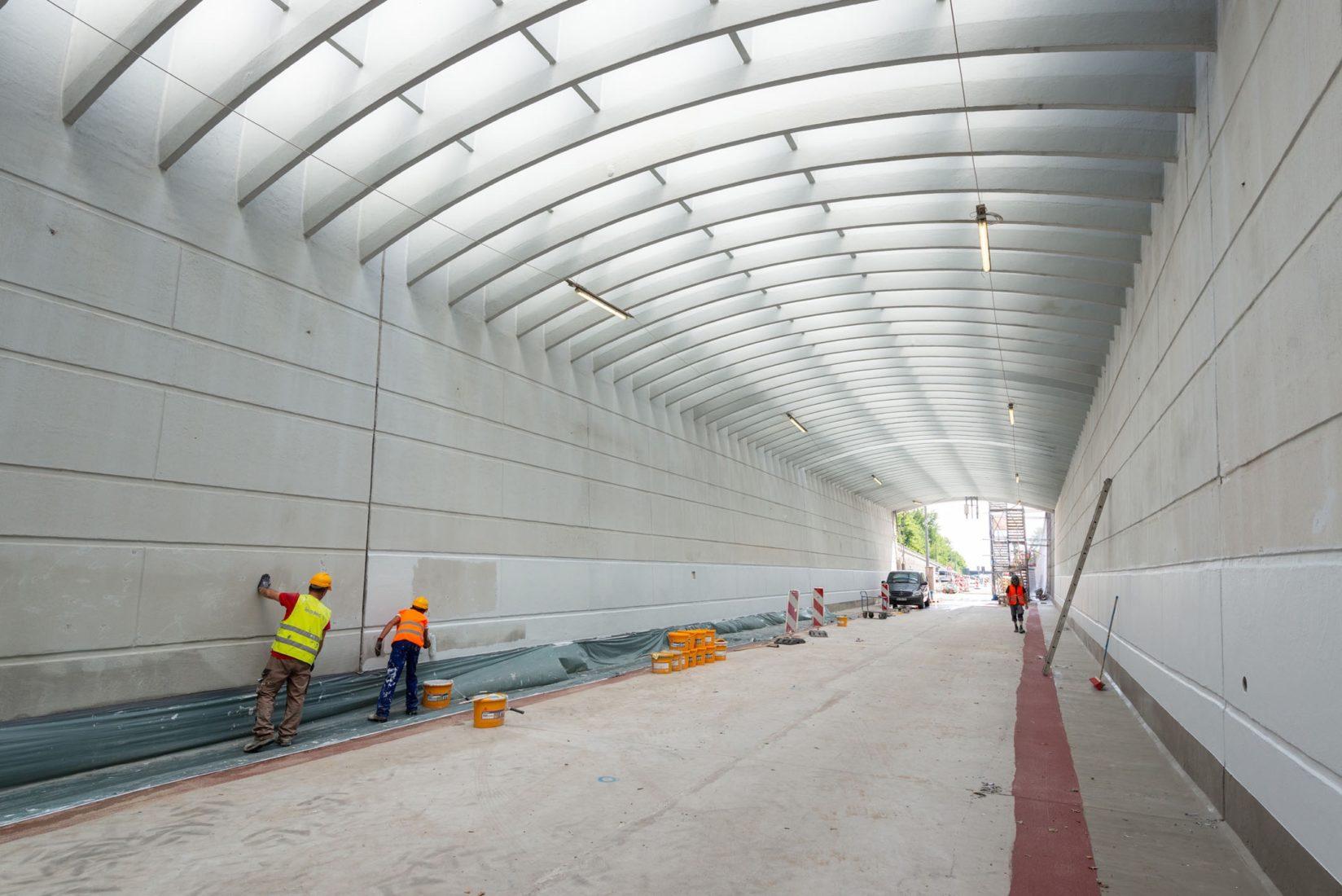 Der sanierte Rendsburger Kanaltunnel hat einen kathodischen Korrosionsschutz erhalten. Alle Fotos: Sika Deutschland GmbH