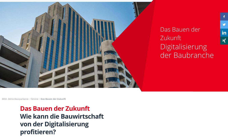 Die Infokampagne steht unter www.bkm.de/service/das-bauen-der-zukunft im Internet.
