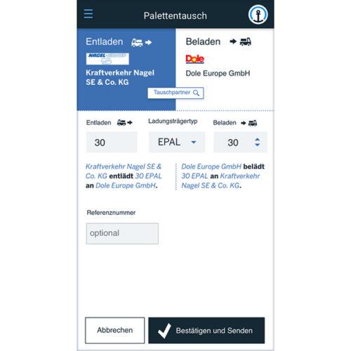 Der Tauschprozess wird mit wenigen Klicks erfasst, bestätigt und in der Blockchain dokumentiert. Abbildung: SAP