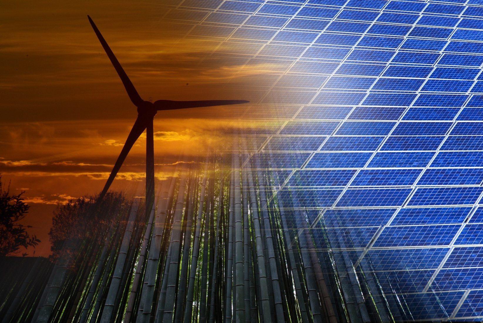 Bis 2050 müsste die installierte Leistung von Wind- und Photovoltaikanlagen um das vier- bis siebenfache steigen. Foto: Pixabay