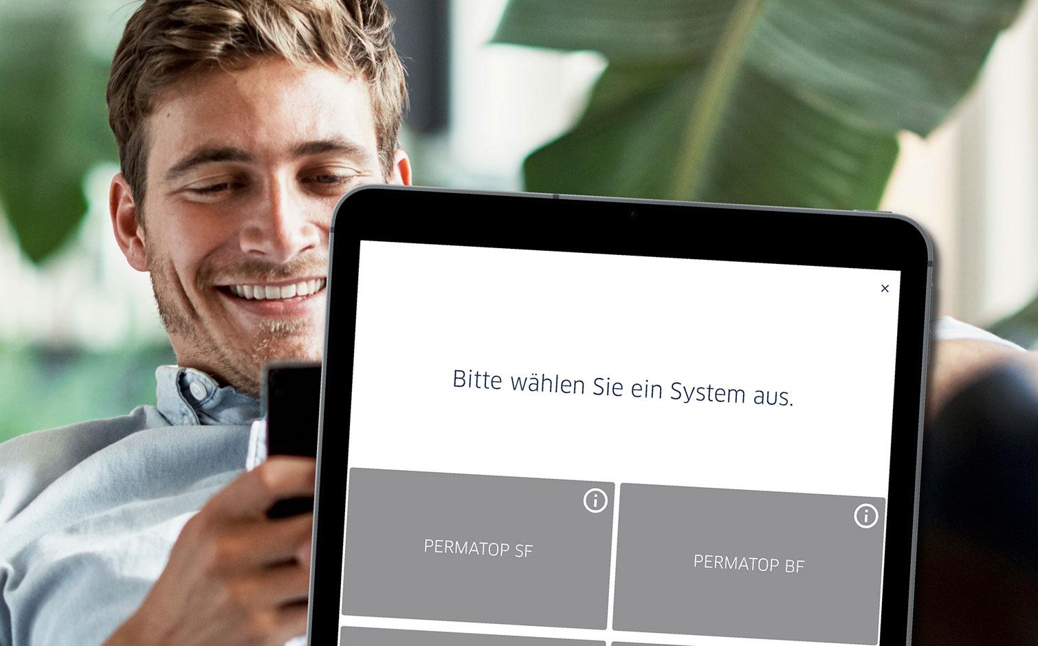 Die neue App funktioniert sowohl auf dem Tablet als auch auf dem Smartphone. Foto: Blanke