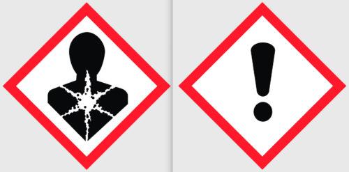 Produkte mit einem Meko-Gehalt ab 1 % sind schon heute mit diesen Gefahrenpiktogrammen zu kennzeichnen.